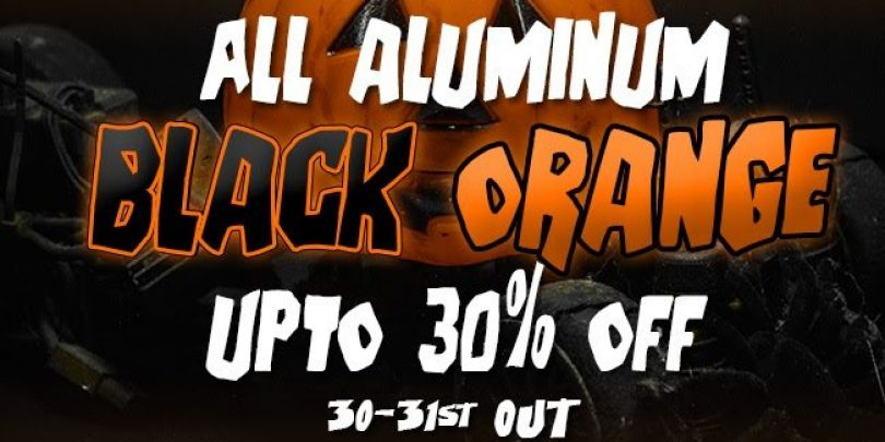 ATees Halloween Sale on Black & Orange Aluminum Upgrades