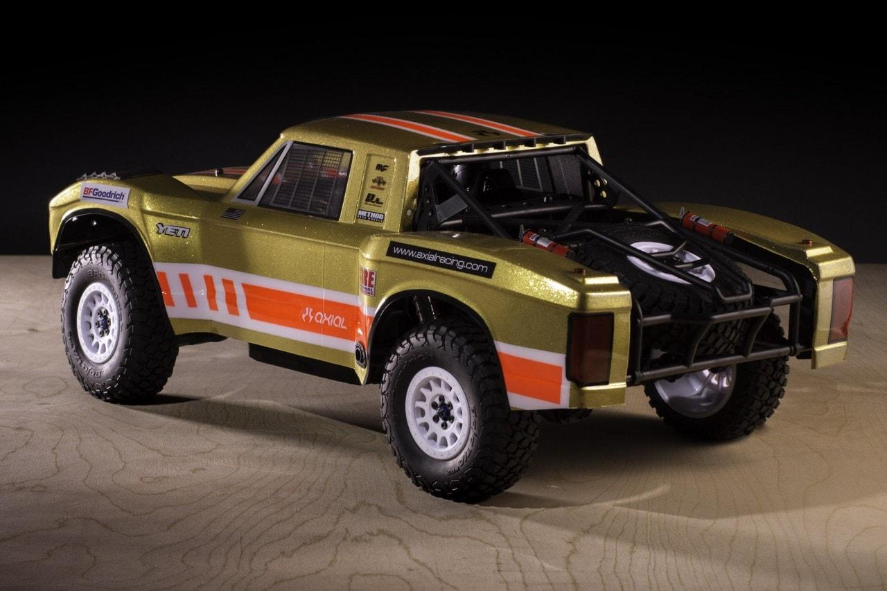 Axial Yeti SCORE Trophy Truck Clear Retro Body (AX31310) Rear