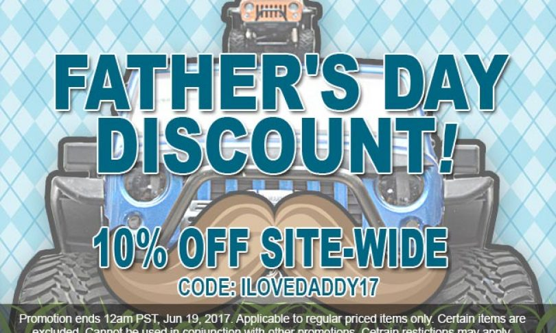 Save 10% Sitewide During ATees Father's Day Sale