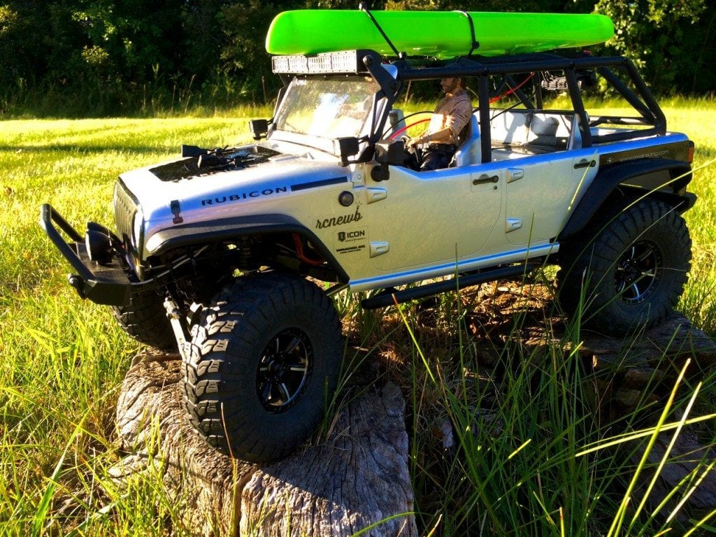 Jeep Wrangler Unlimited Rubicon on the trail