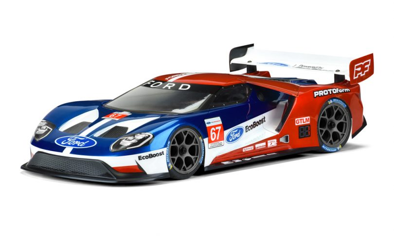 PROTOform Ford GT Clear Body for 1/10-scale (190mm) Touring Cars