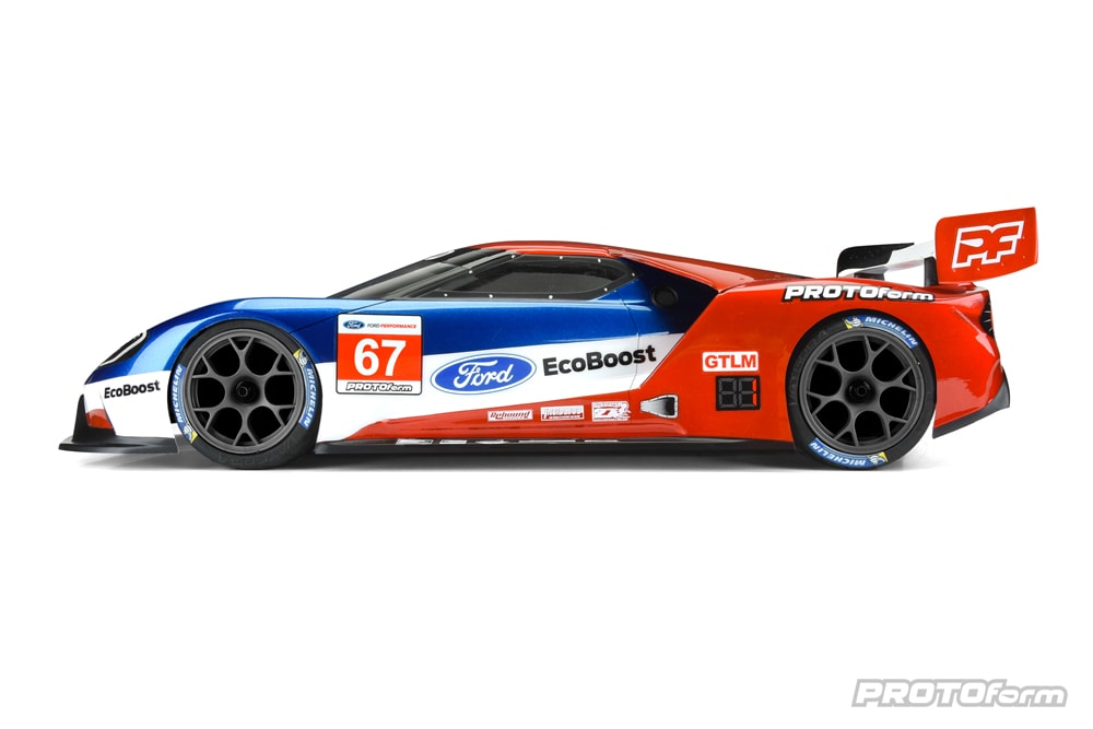 PROTOform Ford GT Clear Body for 190mm Touring Cars - Side