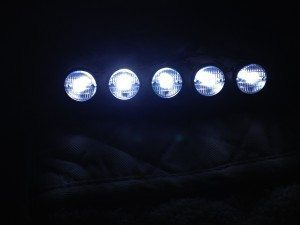1/10 LED Crawler Roof Light Bar Set (5 Spotlight) Black