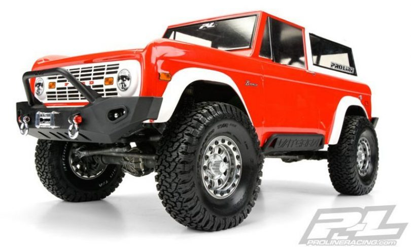 Pro-Line 1973 Ford Bronco Clear Body for Scale Trail Crawlers
