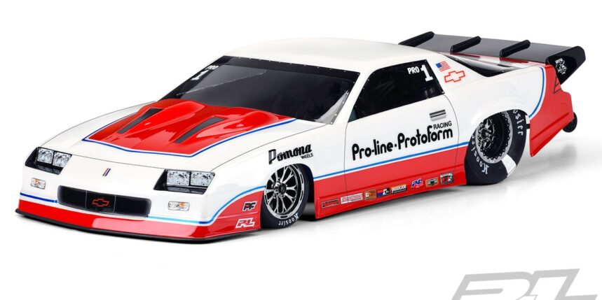 Get Ready to Rip Up the Dragstrip with Pro-Line's 1985 Chevy Camaro IROC-Z Dragster Body