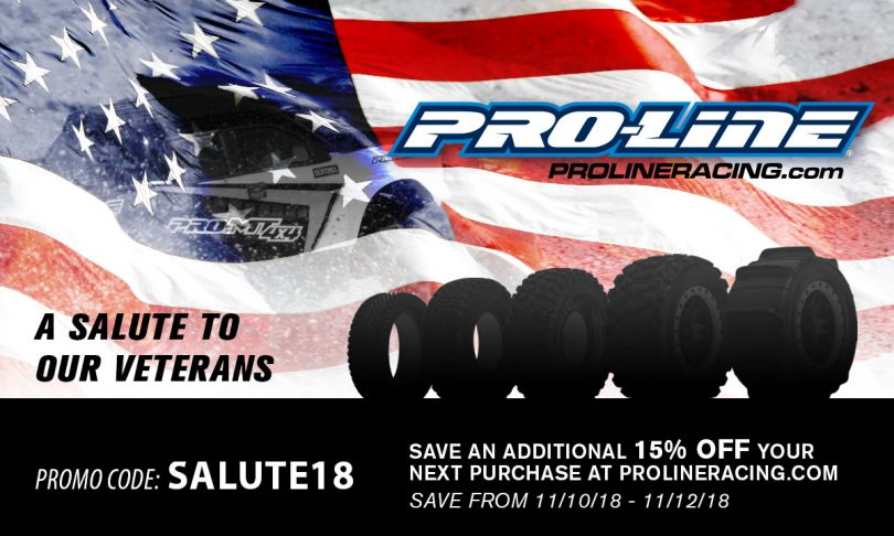 Pro-Line's Veterans Day Sale: Save an Additional 15%