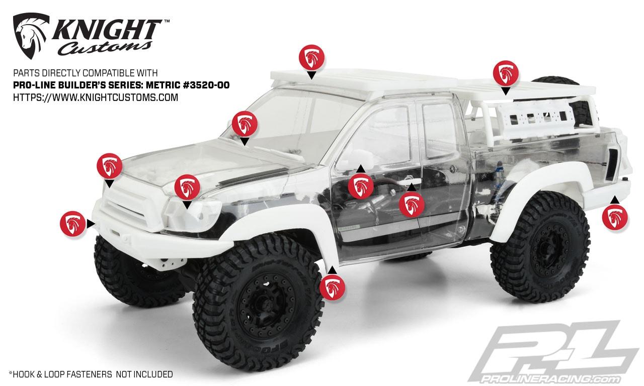 Pro-Line Builders Series Metric Body - Knight Customs Accesories