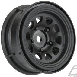 "Pro-Line Keystone 1.55"" Black Plastic Internal Bead-Loc Wheels"