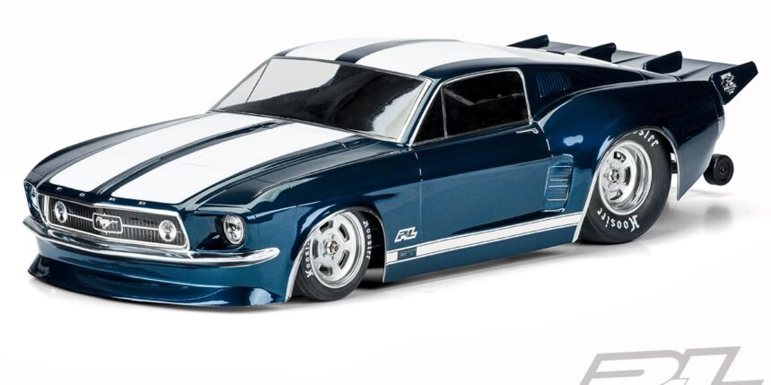 One Wild Pony: Pro-Line Racing's 1967 Ford Mustang Clear R/C Dragster Body