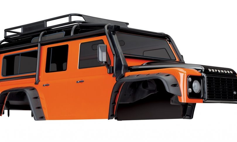 "Traxxas TRX-4 Land Rover Defender ""Adventure Orange"" Body"