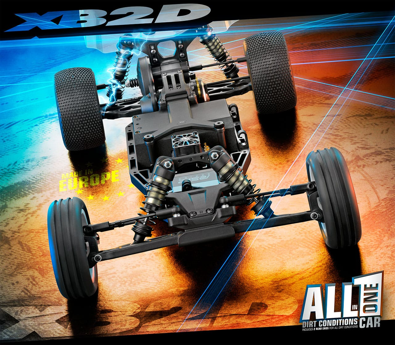XRay XB2D-19 Competition RC Buggy - Chassis